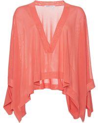 Agnona | Mat Viscose V Neck Oversize Shirt | Lyst