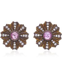 Arman Sarkisyan - 22k Gold, Pink Opal And Diamond Earrings - Lyst
