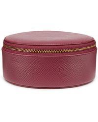 Smythson - Panama Round Leather Trinket Case - Lyst