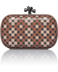 Bottega Veneta - Mini Knot Enamel Clutch With Ayers Trim - Lyst