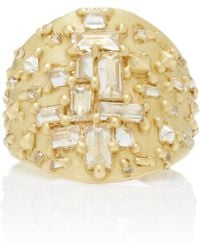 Polly Wales - One-of-a-kind Mondrian Diamond Shield Ring - Lyst