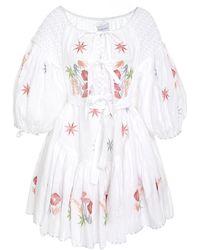 Innika Choo - Frill Mini Smock Dress - Lyst