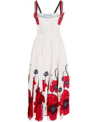 Yuliya Magdych - Poppies Floral Embroidered Sundress - Lyst