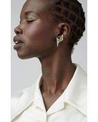 Kavant & Sharart - 18k Gold, Emerald And Diamond Earrings - Lyst