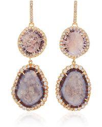 Kimberly Mcdonald - 18k Rose Gold, Geode, And Diamond Earrings - Lyst