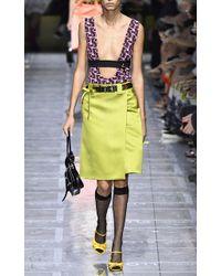 Prada - Sleeveless Jacquard Printed Bodysuit - Lyst