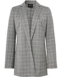 Akris - Alan Cool Wool Plaid Jacket - Lyst