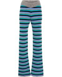The Elder Statesman - M'o Exclusive Ribbed Striped Flared Pant - Lyst