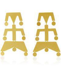 Paula Mendoza - Wounam Medium Gold-plated Brass Earrings - Lyst