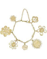 Judy Geib - One-of-a-kind 18k Gold Flowery Charm Bracelet - Lyst