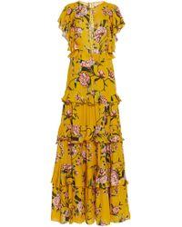 Johanna Ortiz - La Vie En Rose Floral Silk Georgette Dress - Lyst