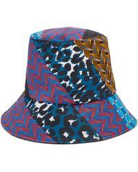 Albertus Swanepoel - Sabona Patchwork-effect Cotton Bucket Hat - Lyst
