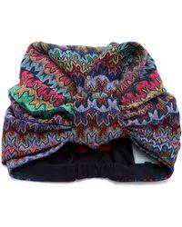 Missoni - Metallic Crochet-knit Headwrap - Lyst