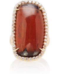 Kimberly Mcdonald - Tiger's Eye And Diamond Ring - Lyst