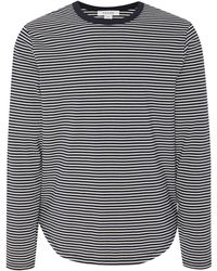 FRAME - Striped Cotton Jersey Shirt - Lyst