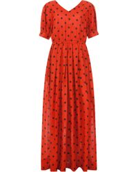 Ksenia Schnaider - Smiling Polka Dot Maxi Dress - Lyst