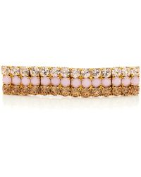 Lelet 14k Gold-plated Crystal Barrette