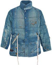 Greg Lauren - Vintage Denim Puffer Jacket - Lyst