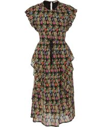 Banjanan - Leticia Garden Print Midi Dress - Lyst