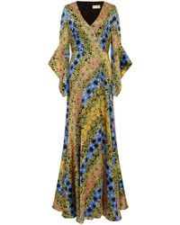 Peter Pilotto - Floral-print Silk Maxi Dress - Lyst