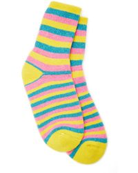 The Elder Statesman - Striped Cashmere Socks - Lyst