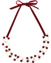 Rosantica - Universo Burgundy Quartz Necklace - Lyst