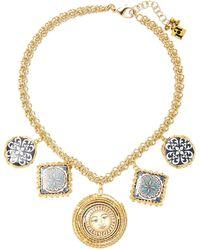 Rosantica - Ciucciue Gold-tone Brass And Ceramic Necklace - Lyst