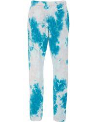 The Elder Statesman - Marble Dyed Cotton Fleece Track Pants - Lyst