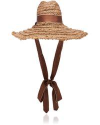 Filù Hats - Mauritius Grosgrain-trimmed Straw Hat - Lyst