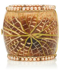 Silvia Furmanovich - Marquetry Water Lily Cuff With Pearls Bracelet - Lyst