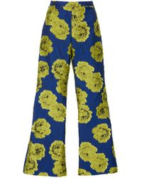 Christian Siriano - Electric Floral Brocade Cropped Trouser - Lyst