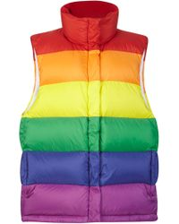 Burberry - Rainbow Striped Puffer Vest - Lyst