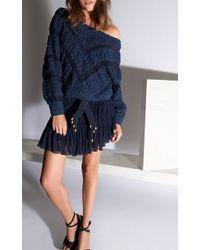 Jay Ahr - Chevron Cotton Sweater - Lyst