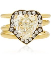 Sylva & Cie - 18k Gold Diamond Ring - Lyst
