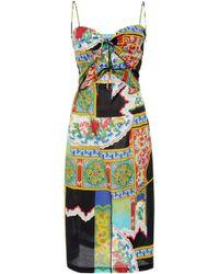Rachel Comey - Chernist Tie Front Cotton Dress - Lyst