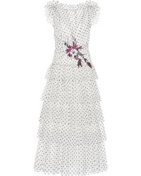 Rodarte | Flocked Tulle Ruffle Dress | Lyst