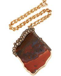 Kimberly Mcdonald - Large Jasper And Brown Diamond Necklace - Lyst