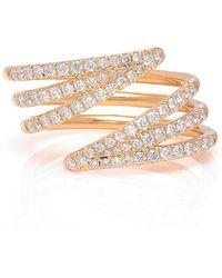 Melissa Kaye - 18k Gold Diamond Ring - Lyst