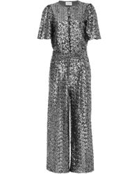 Alexis - M'o Exclusive Asla Sequin Cropped Jumpsuit - Lyst