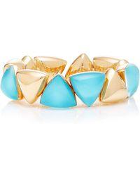 """Vhernier - 18k Rose Gold & Turquoise """"freccia"""" Bracelet - Lyst"""
