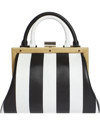 PERRIN Paris - L'attelage Striped Leather Bag - Lyst