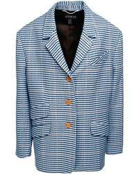 ANOUKI Wool Blend Checkered Jacket
