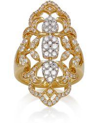 Sara Weinstock - Yellow Gold White Diamond Reverie Ring - Lyst
