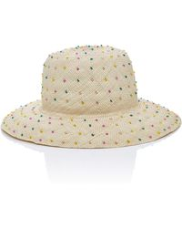 Yestadt Millinery - Seed Bead-embellished Straw Hat - Lyst