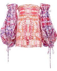 Prabal Gurung - Tie Dye Blouson Sleeve Top - Lyst