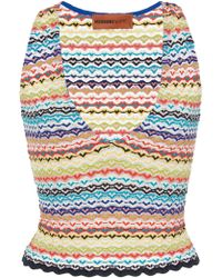 Missoni - Cropped Crochet-knit Top - Lyst