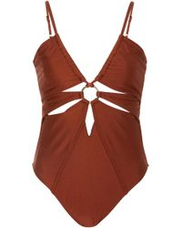 Suboo - Gaby Cutout Ring-detailed One-piece - Lyst
