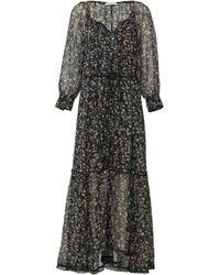 Dorothee Schumacher - Fragile Flowering Tiered Silk Maxi Dress - Lyst