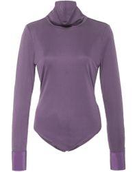 Sea - Midnight Silk Jersey Bodysuit - Lyst