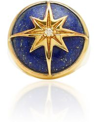 Theodora Warre - Star Lapis Gold-plated Sterling Silver Ring - Lyst